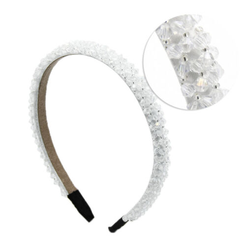 Details about  /Women Girls Elegant Crystal Beads Covered Headband Hair Hoop Accessories