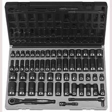 "Grey Pneumatic 81259CRD 3/8"" Dr. 59pc Fract. & Metric Duo-Socket Set - 12 Pt."