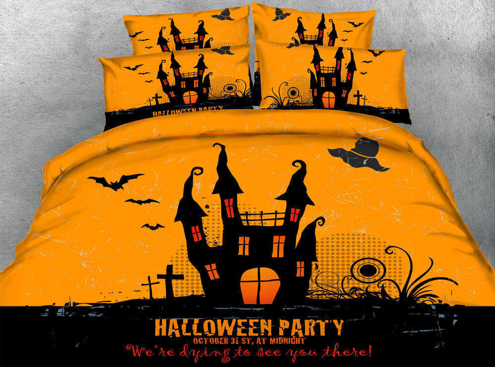 Halloween Costume 3D Printing Duvet Quilt Doona Covers Pillow Case Bedding Sets