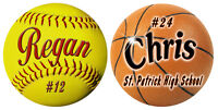 2- Sports Decals Bumper Sticker Outdoor Personalize Gifts Boys Girls Many Colors