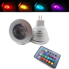MR16 3W DC12V RGB High Power LED Spotlight Downlight Ceiling Lamp Bulb + Remote