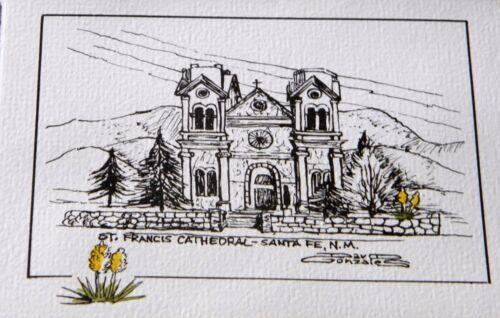 Saint Francis Cathedral in Santa Fe thank you card greeting FREE SHIPPING!