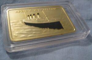 RMS-TITANIC-Gold-Layered-Bar-Ingot-Ship-Disaster-1912-London-New-York-City-Ocean