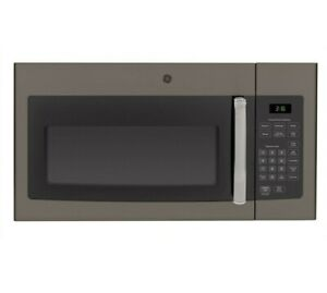 G.E 1.6 cu. ft. 1000 Watts Over-the-Range Microwave Oven in Slate