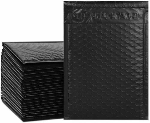 Color Bubble Padded Mailers Black Poly 50 QTY