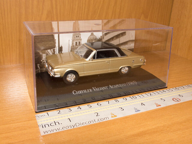CHRYSLER VALIANT ACAPULCO 1965 1 43 MINT WITH BOX ART