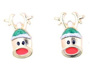 Rudolph-the-Red-Nosed-Reindeer-stud-earrings-Xmas-Christmas
