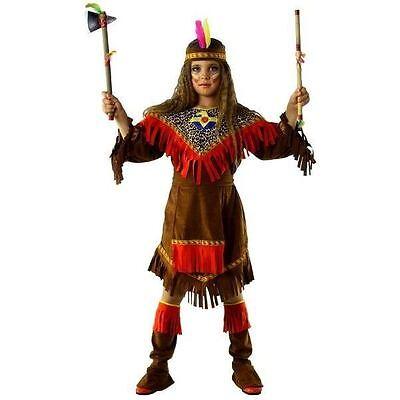 Vestito Costume Carnevale Indiana 5 6 7 8 9 Anni