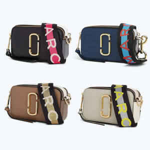 060ea486bb MARC JACOBS Logo Strap Snapshot Small Camera Bag Crossbody 4Colors ...
