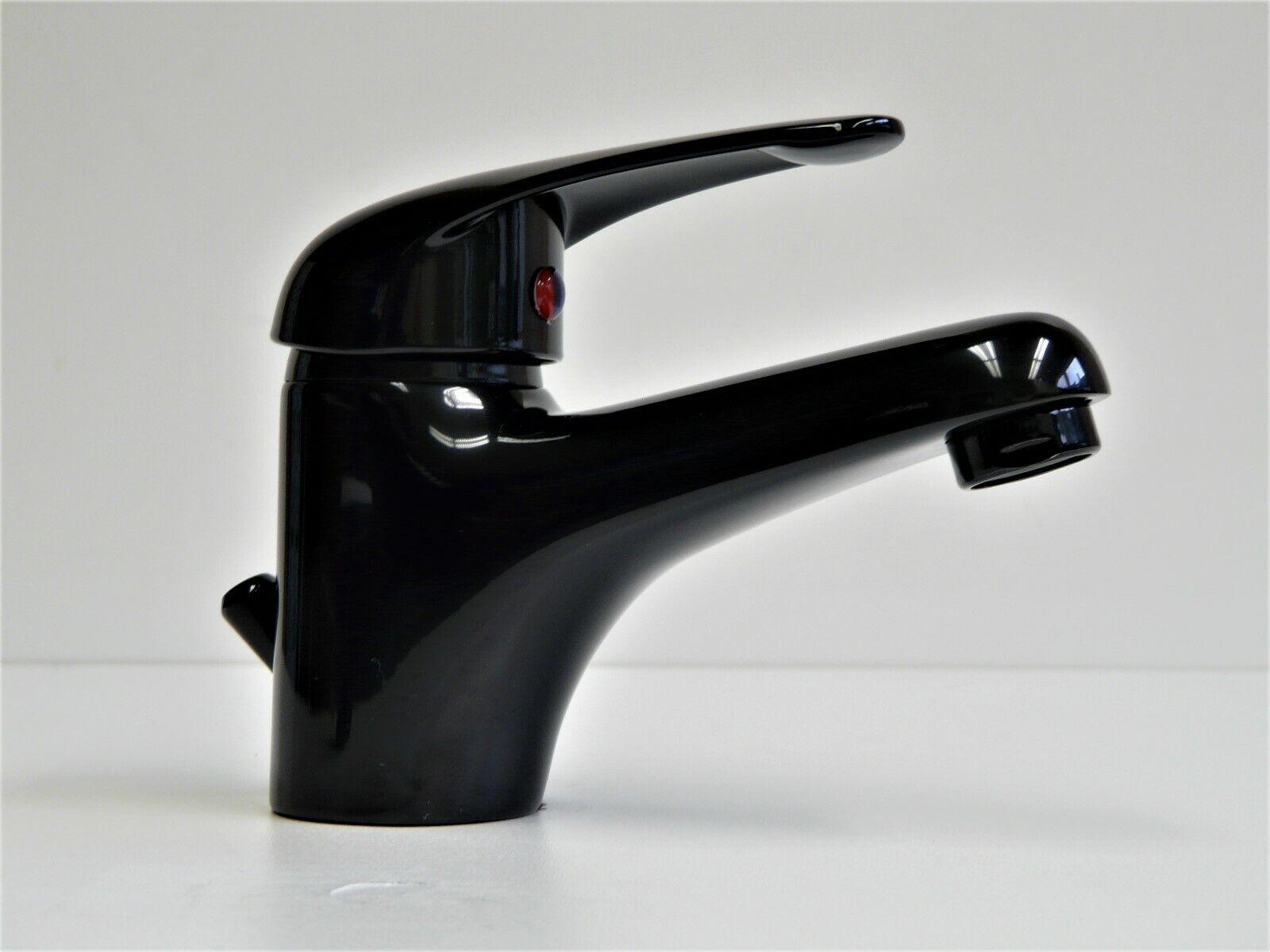 Grifería Lavabo Negro ( Ral 9005 ), Grifo Monomando, Grifo Agua, Magna