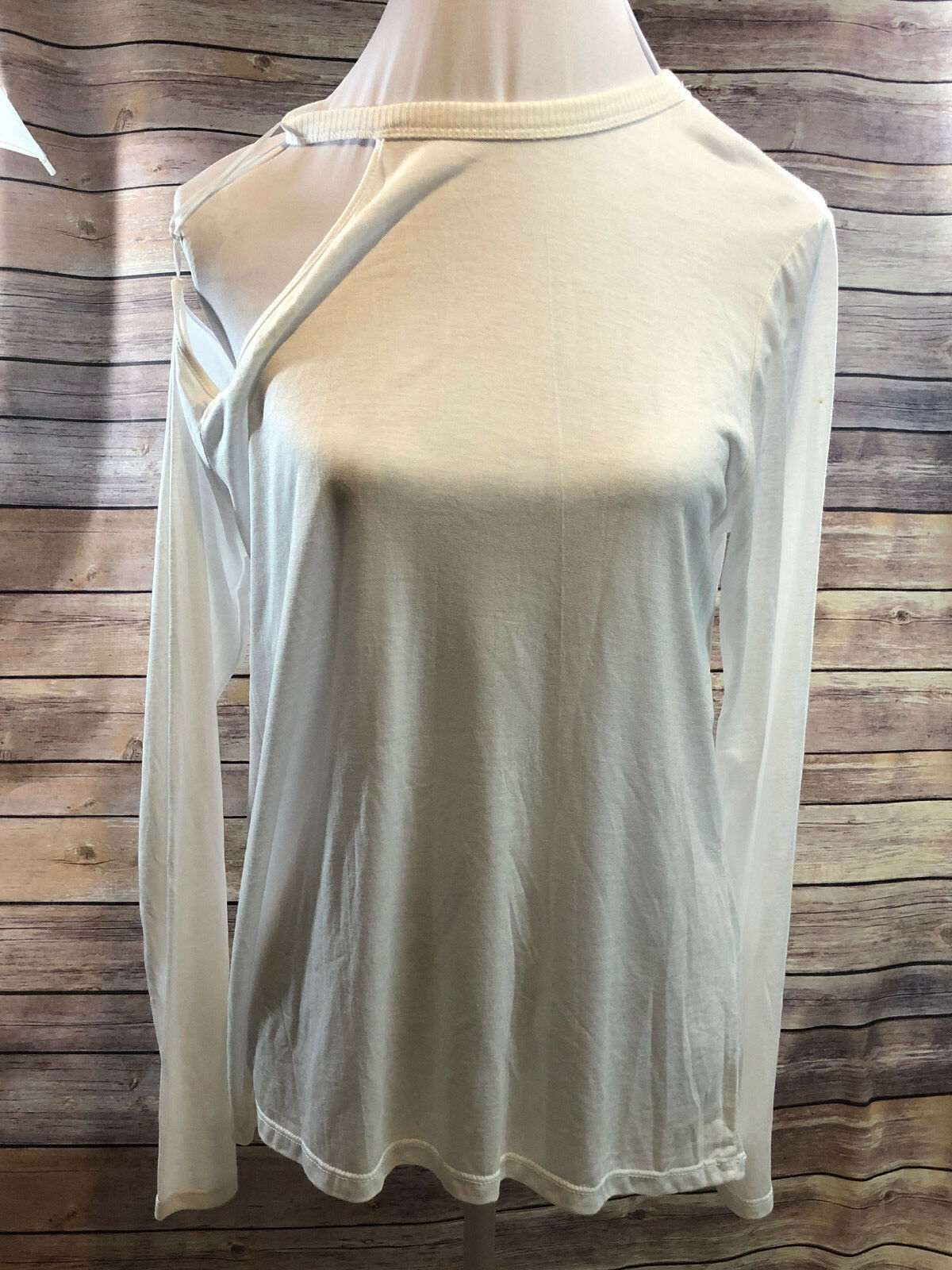 Zara W&B Cold Shoulder Long Sleeve