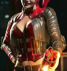 Leather Cosplay 2 Quinn Dress Jacket di Harley Fancy Injustice Halloween RtqnwT0d