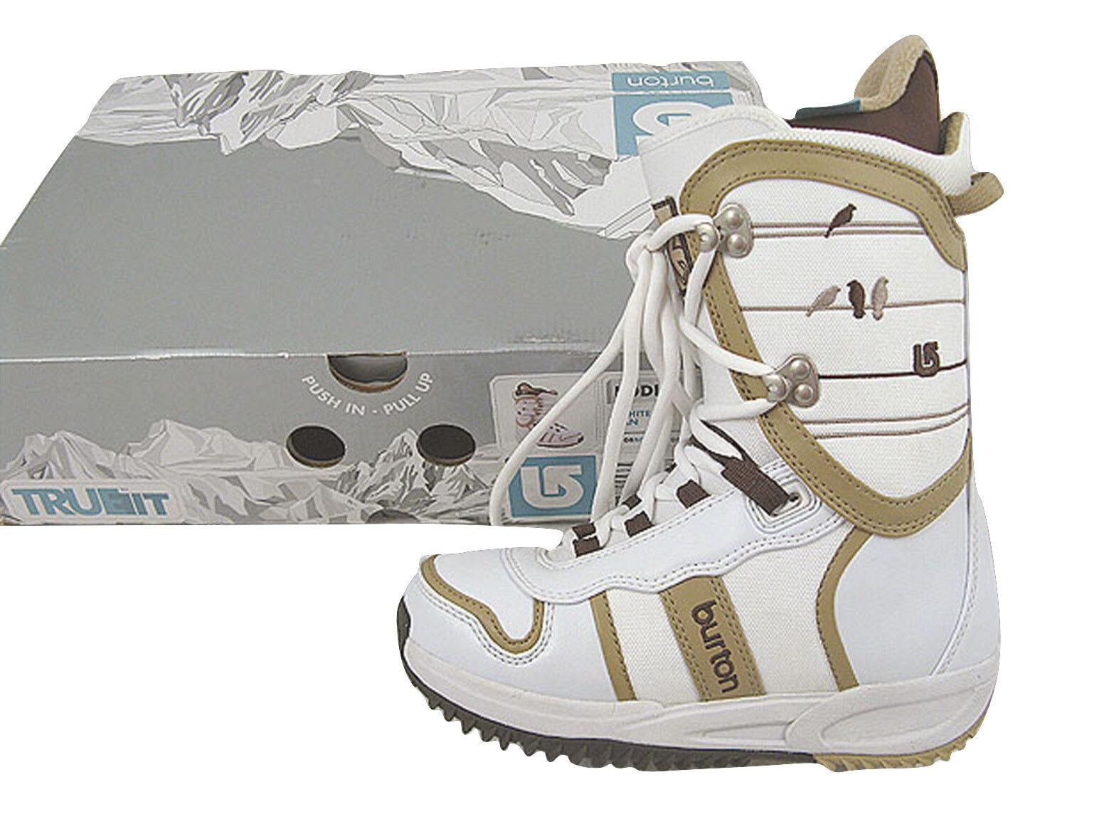 NEW Burton Lodi Snowboard Boots  US 5.5, Euro 36, Mondo 22.5 White Birds
