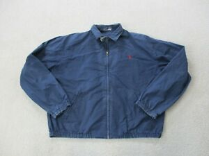 VINTAGE-Ralph-Lauren-Polo-Jacket-Adult-Large-Blue-Red-Pony-Full-Zip-Coat-Men-A15