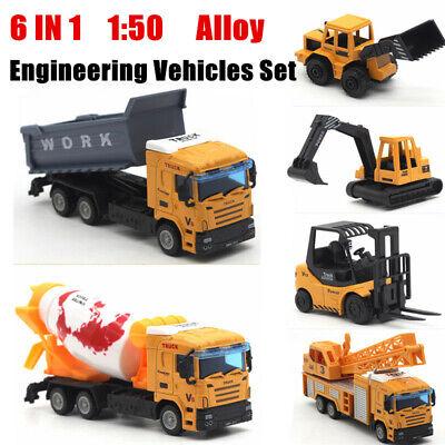 50 Bulldozer Engineering Alloy Car Dump Truck Crane Excavator Electric Toy❤lo 1