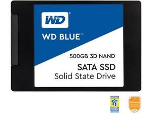 "WD Blue 3D NAND 500GB PC SSD - SATA III 6 Gb/s 2.5""/7mm Solid State Drive - WDS5"