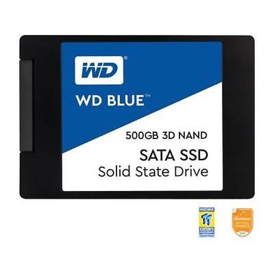 "WD Blue 3D NAND 500GB PC SSD - SATA III 6 Gb/s 2.5""/7mm Solid State Drive - WDS5"