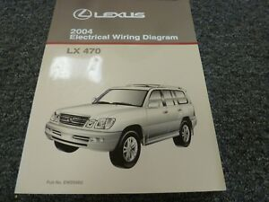 2004 Lexus LX 470 SUV Electrical Wiring Diagram Manual 4 ...