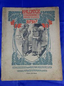Kalender für das Erzgebirge und das übrige Sachsen 1919, 15. Jahrgang Bautzen