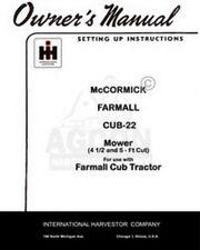 International Farmall Mccormick Cub 22 Sickle Mower 4 12 5 Ft Operators Manual