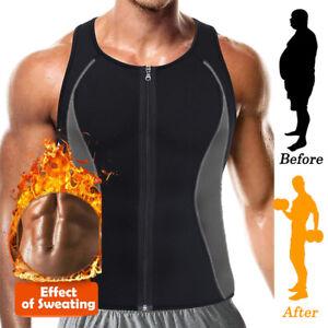 d3917fa9549 Neoprene Sauna Waist Trainer Vest for Men Sweat Shirt Body Shaper ...