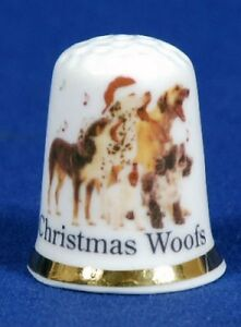 Christmas-Woofs-039-Exclusive-039-China-Thimble-B-46