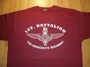 Paras SFSG The Parachute Regiment Cap Badge Mens T-Shirt 1 2 3 4 10 Para Regt