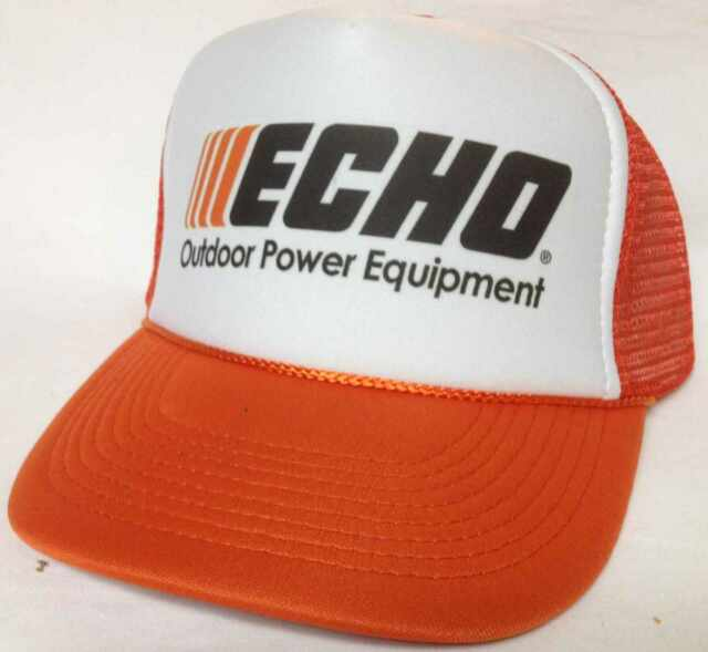 bb29e344b83 Buy Echo Power Equipment Trucker Hat Mesh Hat Snap Back Hat Orange ...