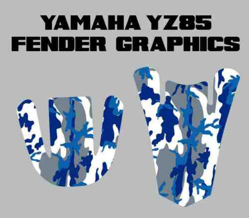 Yamaha YZ85 Camo Fender Graphics yz 85 decals sticker plastics atv quad
