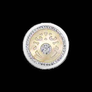 Coin-CS226-von-CEM-fuer-33-mm-Anhaengerrahmen-Edelstahl-Perlmutt-Kristall