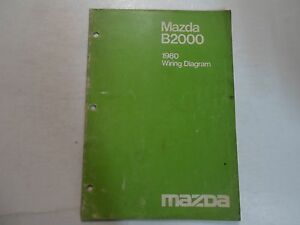 image is loading 1980-mazda-b2000-wiring-diagram-shop-manual-stained-