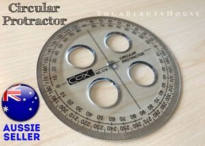 Quality Round Protractor 360 degree Circular ruler angle full circle square math