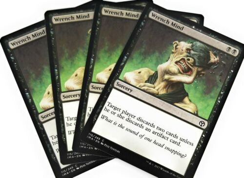 4x Wrench Mind Iconic Masters Magic Mtg Play Set Nm M 4