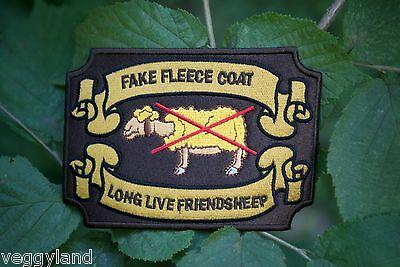 Veggyland Troglodyte NO FUR Vegan Iron//Sew ON new Patch Cloth