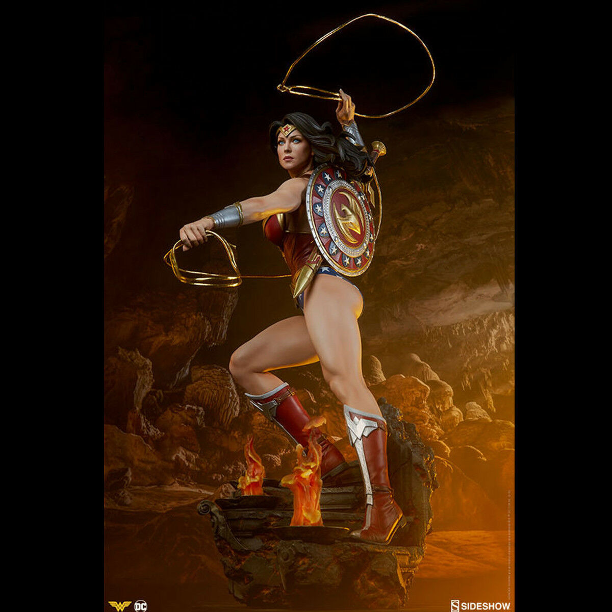 SIDESHOW 300664 1 4 Scale Wonder Woman Figure DC Comics Statue Collectible New