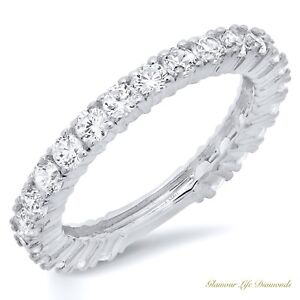 1-2-Ct-Pave-Set-Promise-Engagement-Wedding-Ring-Real-Solid-14K-White-Gold-6-5