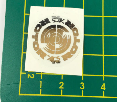old school bmx decals stickers acs rotor 45 stem chrome on clear