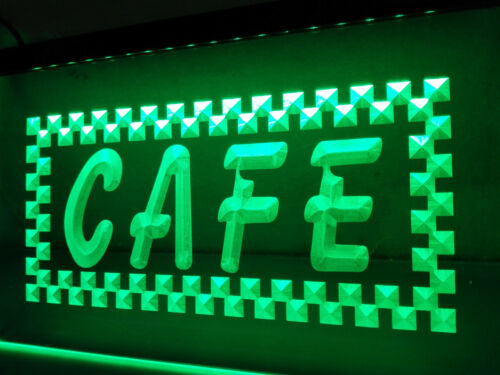 CAFE BAR ENSEIGNE LUMINEUSE DEL Lumière Néon Signe Décoration Artisanat