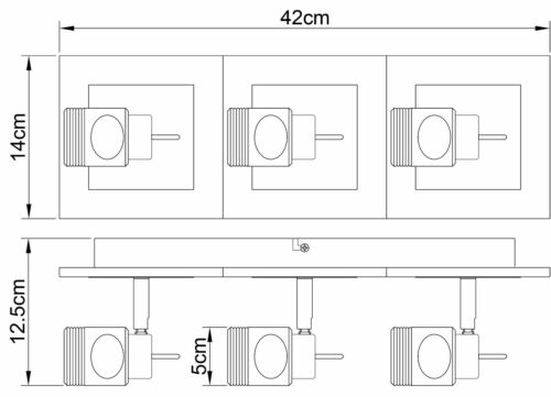 Modern Retro G9 2 or 3 way spotlight light wall or ceiling Glass Cube Light