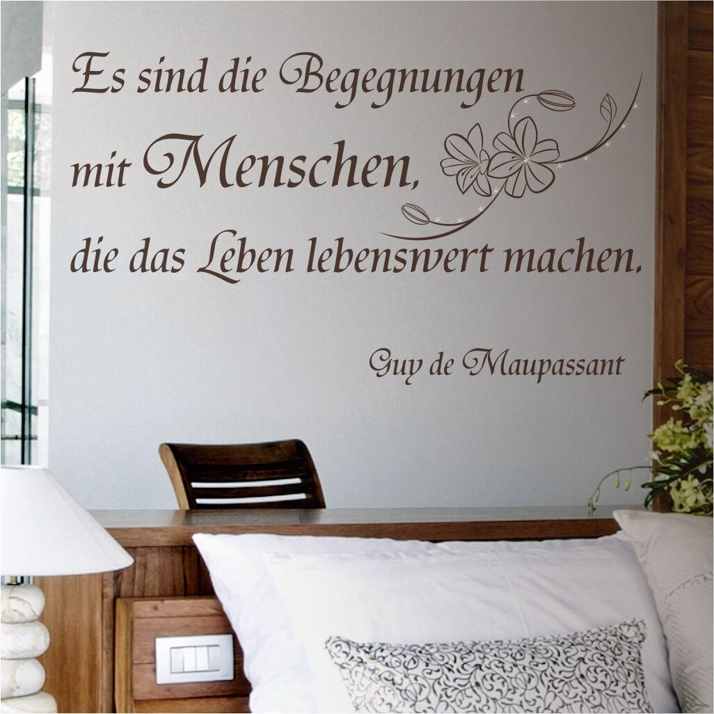 wandtattoo spruch wandspruch swarovski wohnzimmer. Black Bedroom Furniture Sets. Home Design Ideas