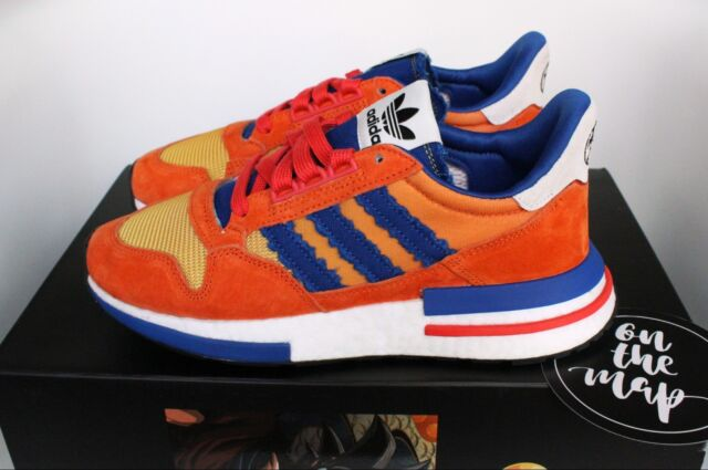 new concept 1a2e9 9cc4d Adidas ZX 500 RM Dragonball Z DBZ Son Goku Orange Blue 5 6 7 8 9 D97046 New