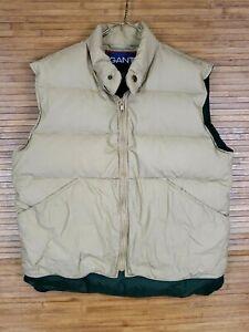 Gant-Beige-Full-Zip-Down-Puffer-Vest-Mens-Size-Small-S