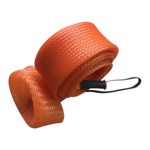 Fishing Rod Cover Braided Mesh Casting Spinning Fishing Pole Sleeve Glove #K