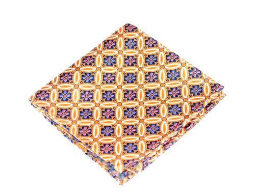 Lord R Colton Masterworks Pocket Square $75 Retail New Salvador Amber Silk