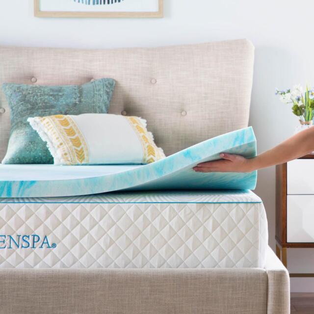 Buy Linenspa 2 Inch Gel Swirl Memory Foam Topper Twin Online Ebay
