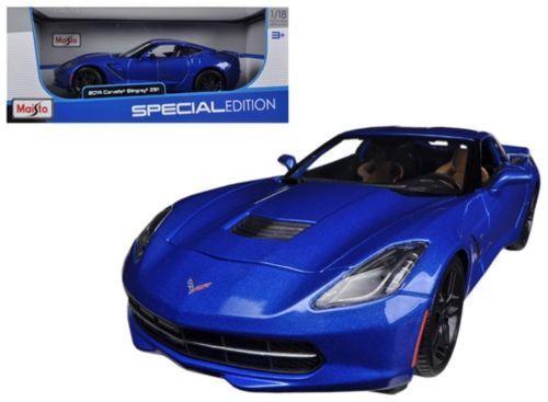 Chevrolet corvette c7 blau coupé maisto 1,18 brand new in box gratis - versand