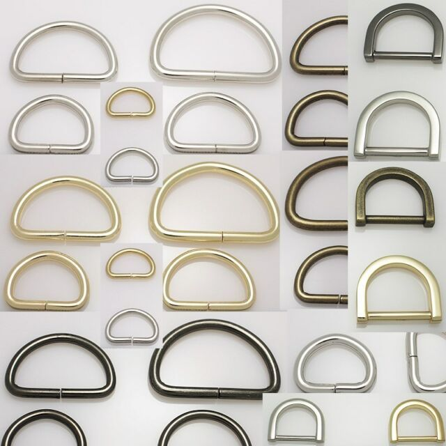 10pcs D-rings for handbag metal accessories stuffs silver gold gunmetal