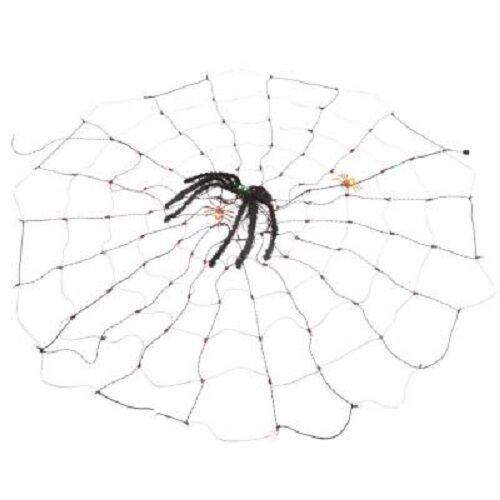 Home Accents 8 Ft Tinsel Spider Web 120 Mini Incandescent Lights For Online Ebay