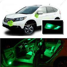 For Honda CRV 2007 - 2012 Green LED Interior Kit + Green License Light LED