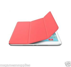 Pink-iPad-2-3-amp-4-Slim-Magnetic-Smart-Cover-with-WakeUp-Sleep-amp-Stand-Case